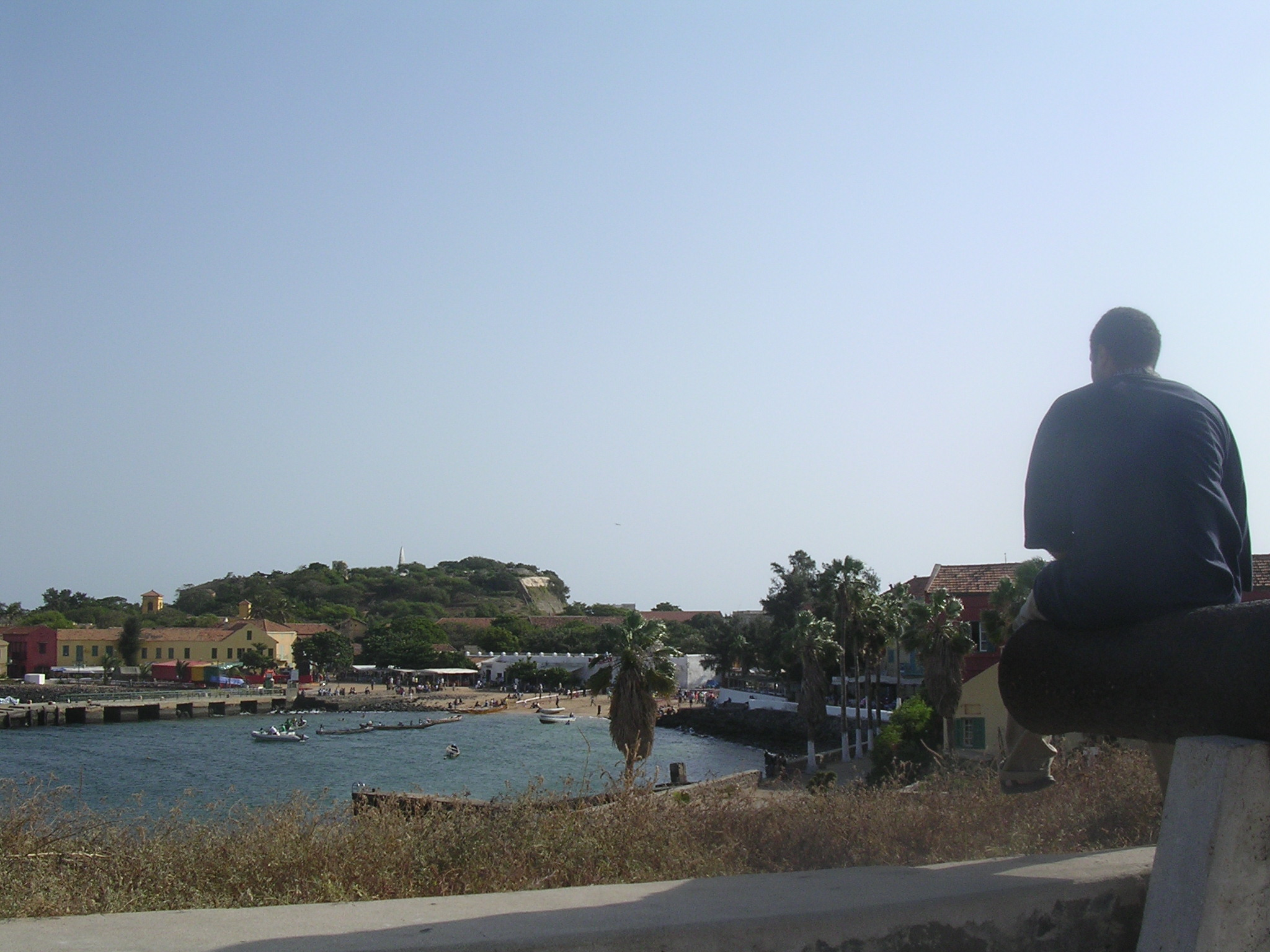 Sittin' on the dock of Gorée...