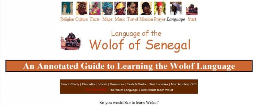 An Annotated Guide to Learning the Wolof Language